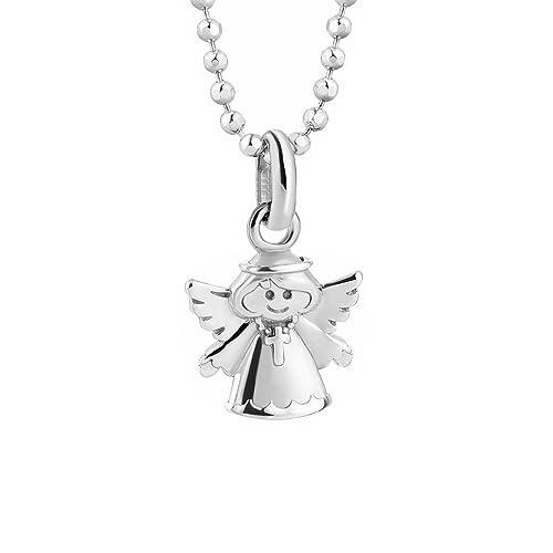 butterfly Bambine Ragazze Collana Argento sterling Ciondolo Angelo custode  Portafortuna lunghezza regolabile Confezione regalo, regali