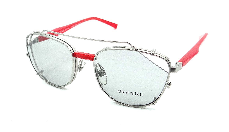 Alain Mikli Rx Eyeglasses Frames A02024 004//87 52-18-140 Matte Silver w//Clip
