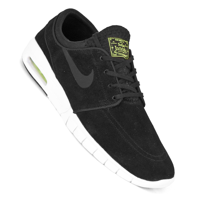 the latest 1534c e6e23 Nike SB Stefan Janoski Max L Shoes - Black Cyber White  Amazon.co.uk  Shoes    Bags