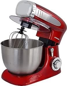 Syntrox Germany KM-1300W Red - Robot de cocina (recipiente de acero inoxidable, 6,5 L), color rojo: Amazon.es: Hogar