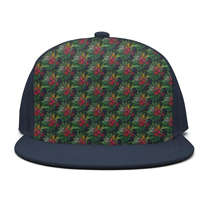 b33bb81bf03 Trum Namii Unisex Plain Baseball Cap Floral Flower Leaves Mens Snapback