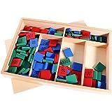 Sharplace Montessori Scatola Kit Matematica Materiale Legno Conteggio Giocattolo Compleanno Regalo di Natale per i Bambini