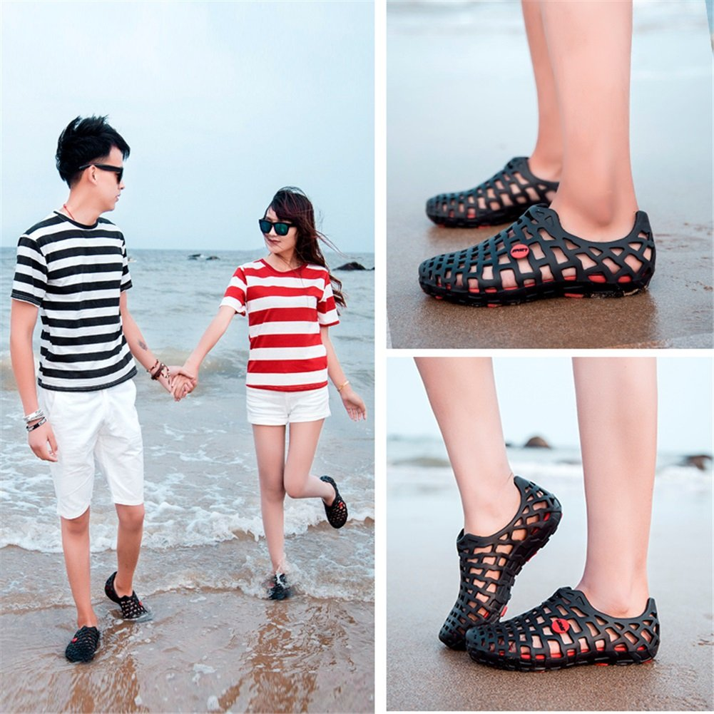 Men's Beach Shoes Woman Wading Shoes Sandals Summer Hollow-Out Lovers Shoes Hollow-Out Summer Flip Flop Non-Slip Breathable Unisex Outdoor Rafting Flip Flop Hole 38|A B07C8G925R 636fe0