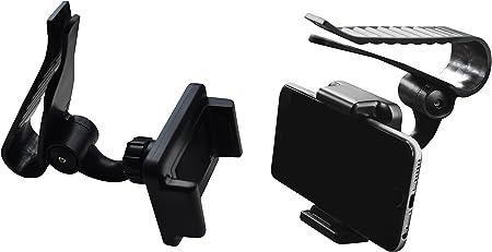 Lilware Universal Sunshield Board Clip Sonnenblende Halterung Autohalter Für Handy Pda Gps Mp3 Player Kompakte Größe Klemmmontage Mit Einer Max Öffnung Von 85 Mm Und Einem 360 Grad Rotationssystem Schwarz Navigation