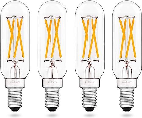 Chandelier Lights 6W AIELIT Antique Tubular T8 Edison Light Bulbs for Home Ceiling Fan E12 LED Bulb Dimmable 60 Watt Equivalent 6-Pack Warm White 2700K Pendant Lamp