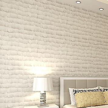 XIAOLI& Cremeweiß 3D Vliesstoffe Schlafzimmer Wohnzimmer Tv ...