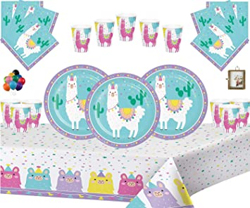 Llama Fiesta Niños Cumpleaños Juego de decoración Platos ...