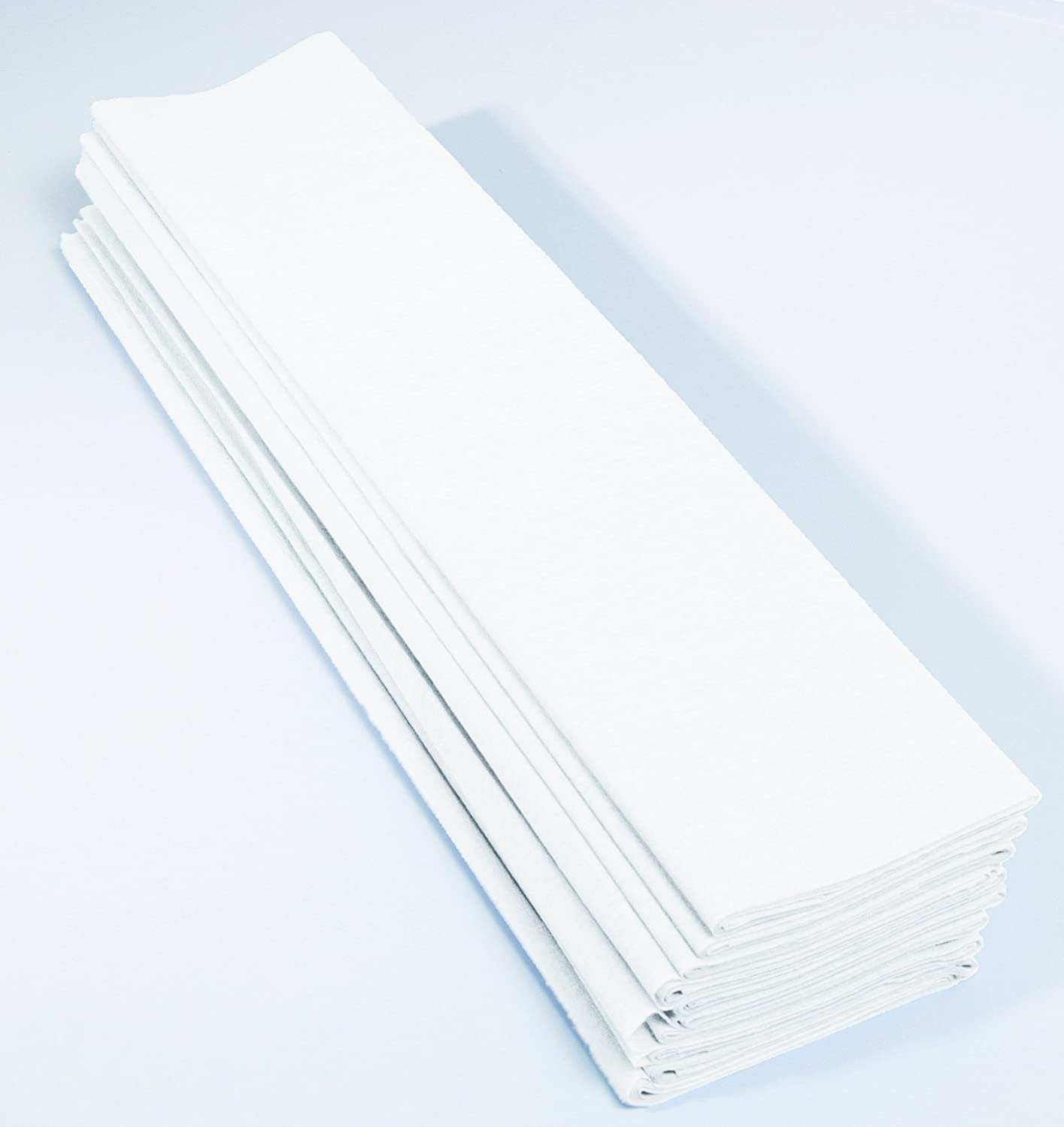 Maildor Crepe Paper, 32 g, 2 x 0.50 m, 40 Percent, 10 Sheets, White Clairefontaine 903001C