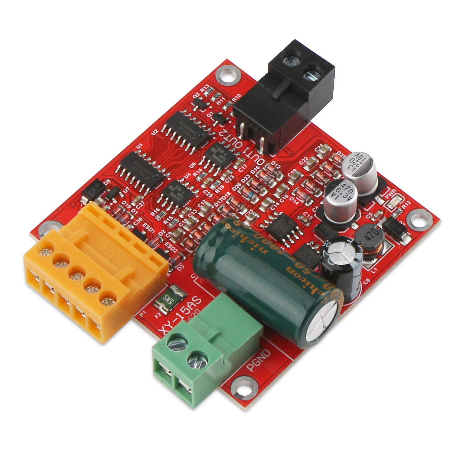 DROK Motor Speed Controller DC 12V/24V/36V Motor Speed Control Module 12A High Power Industrial PWM Electric Motor Drive Regulator Board by DROK