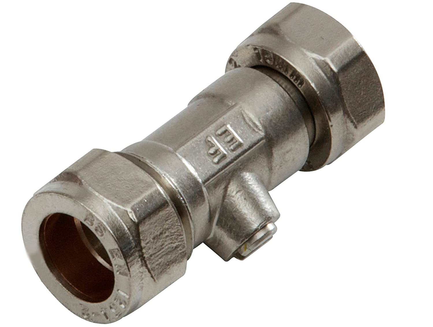15MM X 15MM COMPRESSION CHROME PLATED STRAIGHT COUPLER