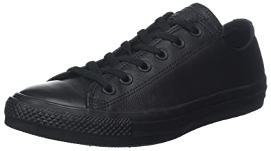 Converse Chuck Taylor All Star Leather Low Top Sneaker Black Mono 3 M US 64725da5e