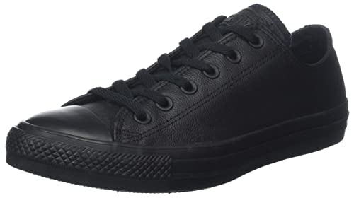 Converse CT Ox Leather Black Black Womens Trainers Size 5 UK a9ded806836