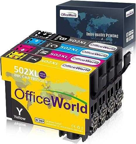 OfficeWorld 502 XL Reemplazo para Epson 502 502XL Cartuchos de ...