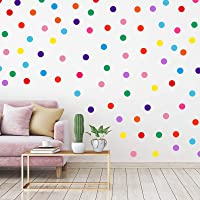 240 Pieces Polka Dots Wall Decor Vinyl Circle Wall Stickers Multi-Color Dots Decals for Kids Girls Boys Bedroom Living…