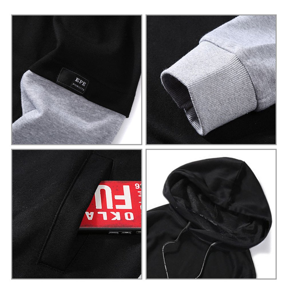 Bleuzee Sudaderas Hombre Hip Hop Long Sleeve Streetwear Patchwork Sweatshirts Loose Pullover at Amazon Mens Clothing store: