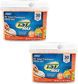 Amazon Com Tst Ultra Concentrated Orange Citrus Scent Rv Toilet Treatment Drop Ins Formaldehyde Free Breaks Down Waste And Tissue Septic Tank Safe 30 Pack 41183 2 Pack Automotive