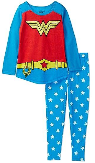 7179593bf6 Amazon.com  DC Comics Wonder Woman Pajama for Big Girls (10)
