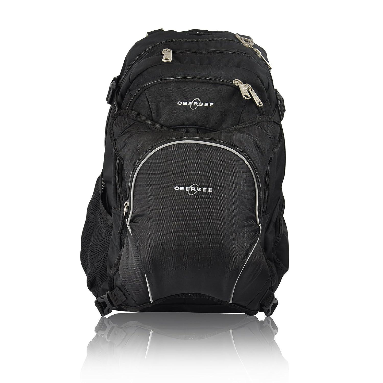 Amazon.com : Berna bolsa de pañales mochila y portátil, Negro / Negro : Baby