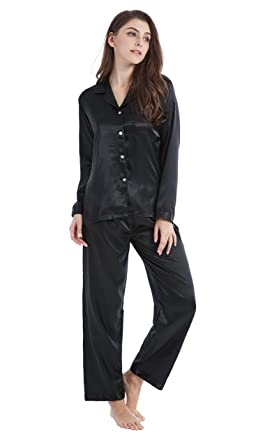 Tony   Candice Women s Classic Satin Pajama Set Sleepwear Loungewear  (Small f2b07af5d