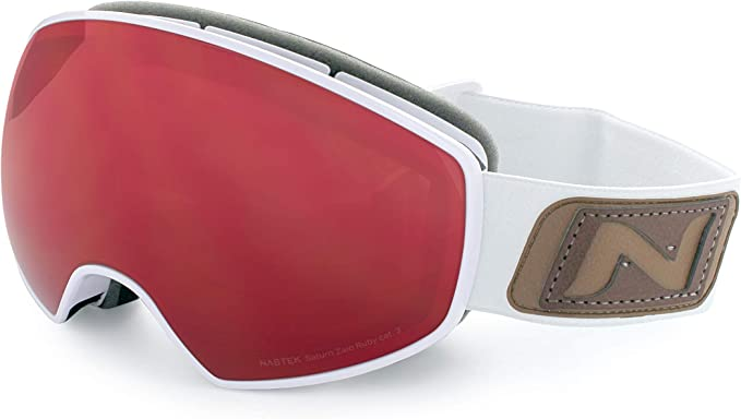 WFO Unisex Goggles NASTEK Topaz Lens Shiny Black Frame Optic Nerve