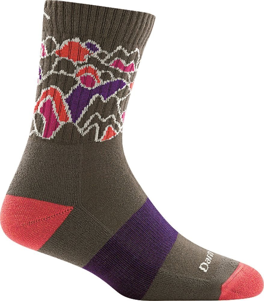 Darn Tough Coolmax Zuni Micro Crew Cushion Sock - Women's Taupe Large by Darn Tough