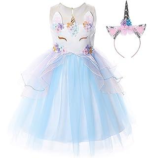 6944631b9aa JerrisApparel Flower Girls Unicorn Costume Pageant Princess Party Dress