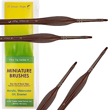 15 Model Building Hobby Art Brushes for Fine Detail Painting Nylon Brush tips