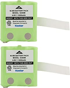 Kastar 2-Pack Battery Replacement for Midland G223 G225 G226 G227 G300 G300M G500 GXT200 GXT250 GXT255, Motorola TLKR-T3 TLKR-T4 TLKR-T5 TLKR-T6 TLKR-T7 TLKR-T8 XTR446 IXNN4002A, Switel WTF732