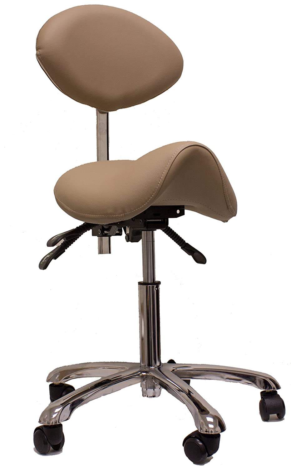 ergonomic chair betterposture saddle chair jobri. Amazon.com: Spa Luxe Rolling Stool With Back Support For Beauty, Exam, Office And Home (CLAY): Health \u0026 Personal Care Ergonomic Chair Betterposture Saddle Jobri