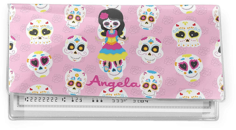 Kids Sugar Skulls Vinyl Checkbook Cover Personalized