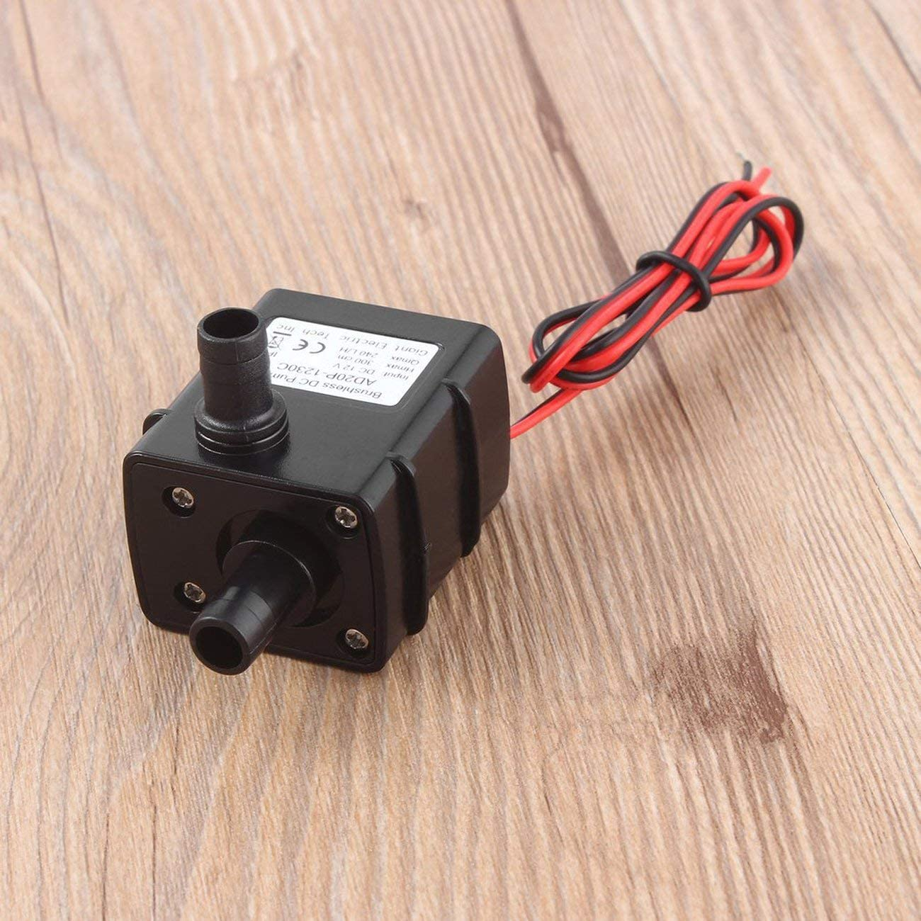JIUY Ultra-Quiet Mini DC 12V 3M 240L//H Brushless Motor Submersible Water Pump New Garden Pond Submersible Water Pump Black