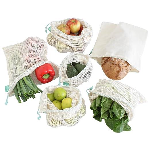Earthtopia Juego de 6 Bolsas para Frutas y Vegetales Hechas ...