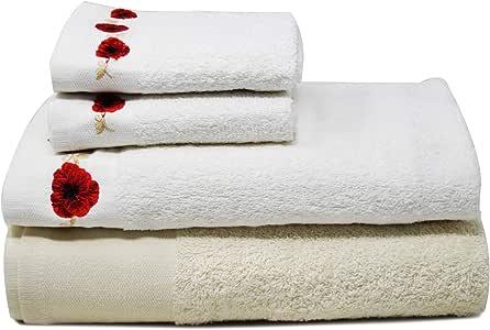 Towelogy® - Juego de 4 toallas de baño de rizo de algodón egipcio ...