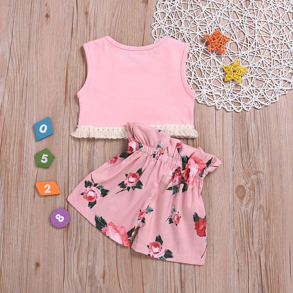 Short Pants Womola 2pcs Baby Girl Outfit Leaf Chiffon Short Sleeve t-Shirt