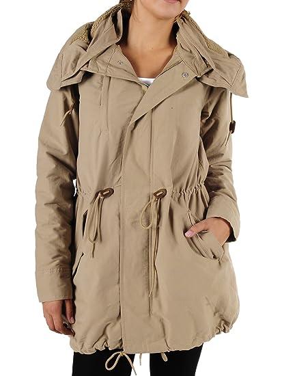 Adidas Originals Parka Damen gefütterter Winter Mantel Jacken Kapuze Mäntel  warm Winterjacken Wintermäntel Frauen (Clear 47128130f7