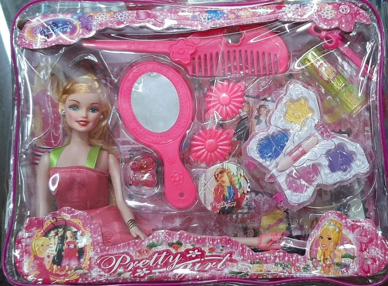 Buy Vinus Group Girl Fashion Designer Princess Stylish Barbie Dress Up Doll Play Set With Hair Brush Hair Dryer Hair Clip Ring More Accessories Children Toy For Girls Kids