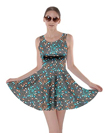 CowCow Womens Dark Blue Orange Female Egg Male Sperm Fertilization Skater  Dress 837e06963