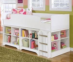 Ashley Furniture Signature Design - Lulu Twin Loft Bed - Component Piece - White