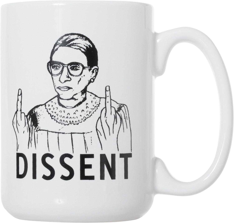 I Believe In RBG Unicorn Feminist Double-Sided Ceramic Coffee Mug Tea Cup