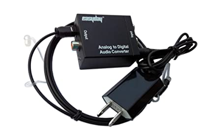 EASYDAY Analog (L/R) Stereo To Digital Audio Converter Adapter - Changes Stereo