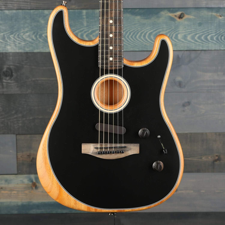 Fender Acoustasonic Stratocaster Black w/Premium Gig Bag