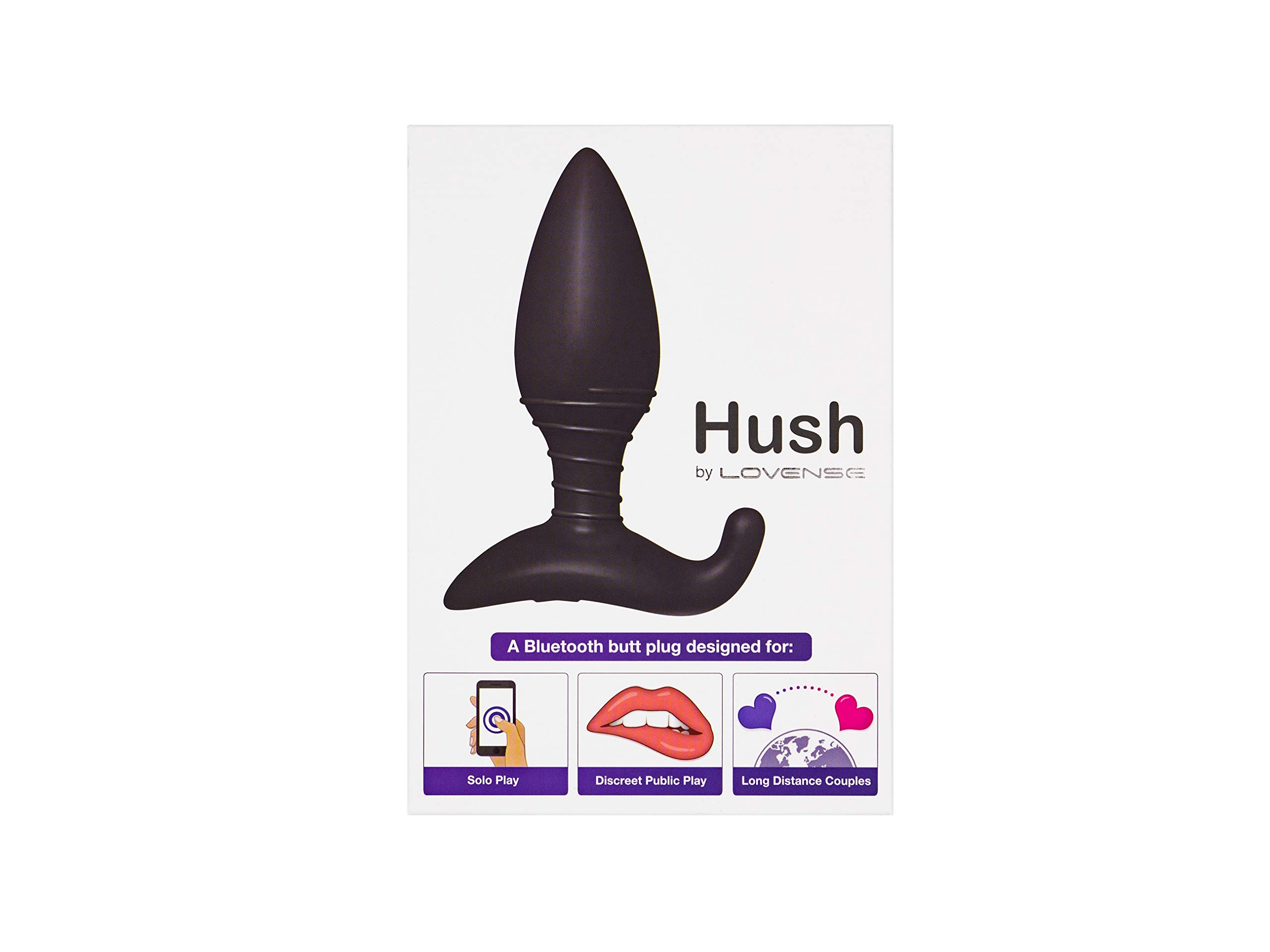 LOVENSE Hush Butt Plug (1.5inch), Powerful & Intense Vibrating Sex Toy for Men & Women, Smartphone Wireless Bluetooth Connectivity, Waterproof and Rechargeable by LOVENSE (Image #5)