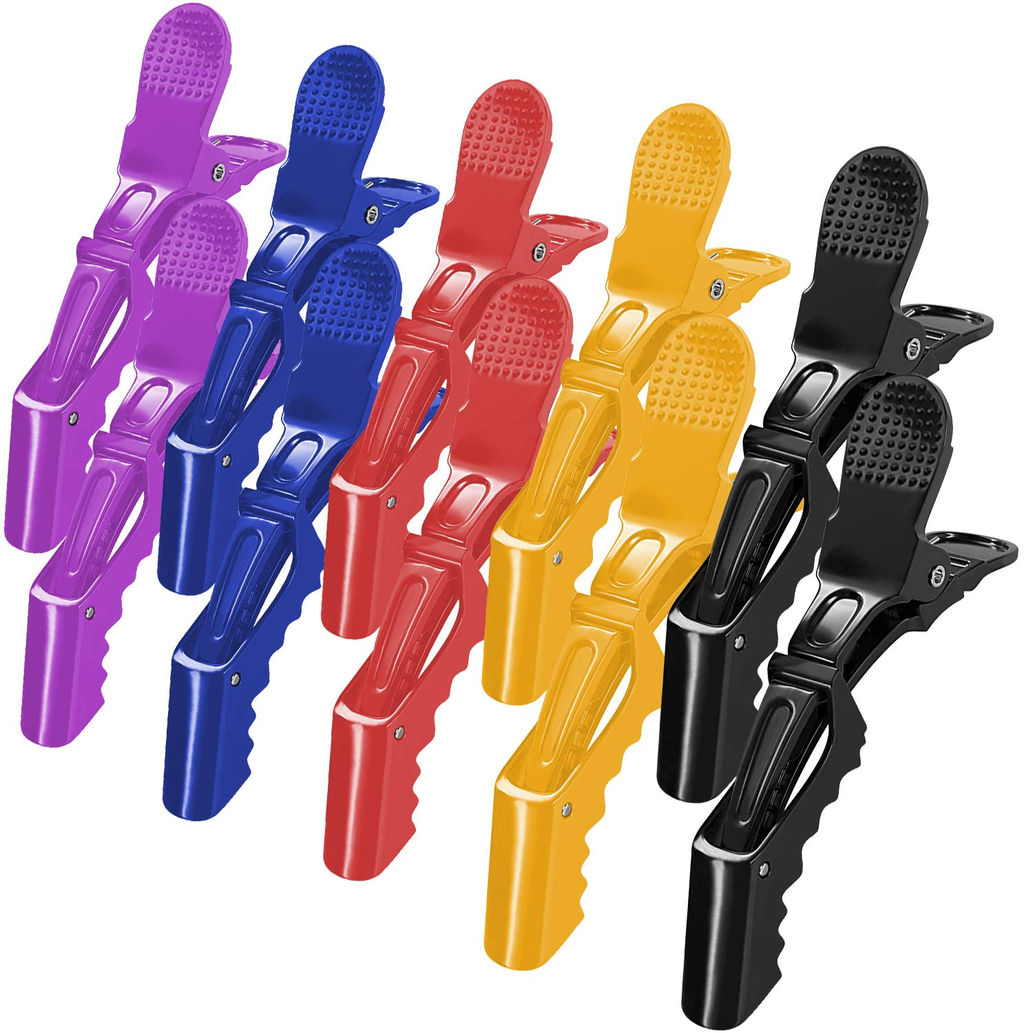 Details about  /6//12PCS Salon Croc Hair Styling Clips-Sectioning Alligator Hair Clip Plastic