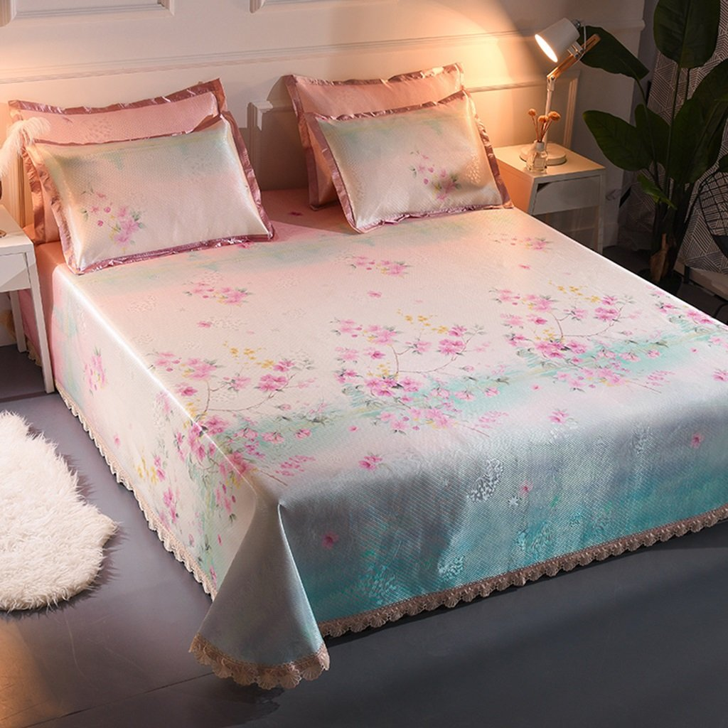 ベッドスカート氷シルクマットスリーピース1.8mベッドは洗濯することができます空調ソフトシートマシンウォッシュシート1.5メートルダブルマット (色 : 4, サイズ さいず : 150*200cm) B07F2JXNHB 150*200cm 4 4 150*200cm