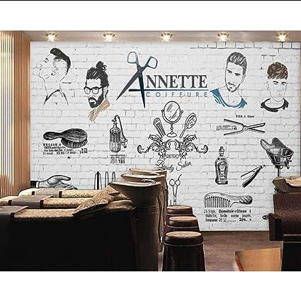 Amazon Com Dalxsh Men S Barber Shop Wallpaper Salon No