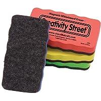 Creatividad Street pizarrón Blanca Magnética de gis y gomas de borrar, 4-Pack (ac2083)
