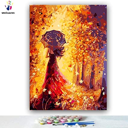 Students Paint by Number Kits 16 X 20 Inch Canvas DIY Oil Painting for Kids Adults Beginner Canvas Kit Adults Drawing Paintwork with Paint Brushes and Acrylic Pigment