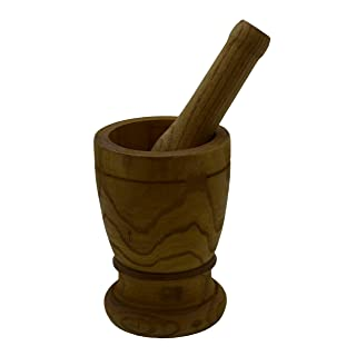 Imusa LIS-005W Mortar with Pestle Kitchen Essentials, Jumbo, Natural