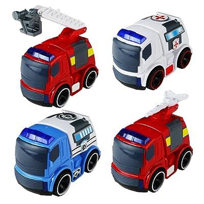 Véhicules Camions Voiture Jouets Tirez Modèles Suivre Mini Set 2IH9YWeED
