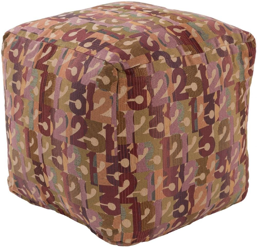 Surya Kids Square pouf/ottoman 18''x18''x18'' in Multi Color From Shoop Shoop Collection